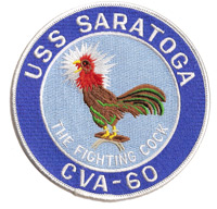 CVA-60 USS Saratoga Fighting Cock Patch