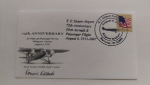 TF Green/Hillsgrove 75th AnniversaryPostal Cover